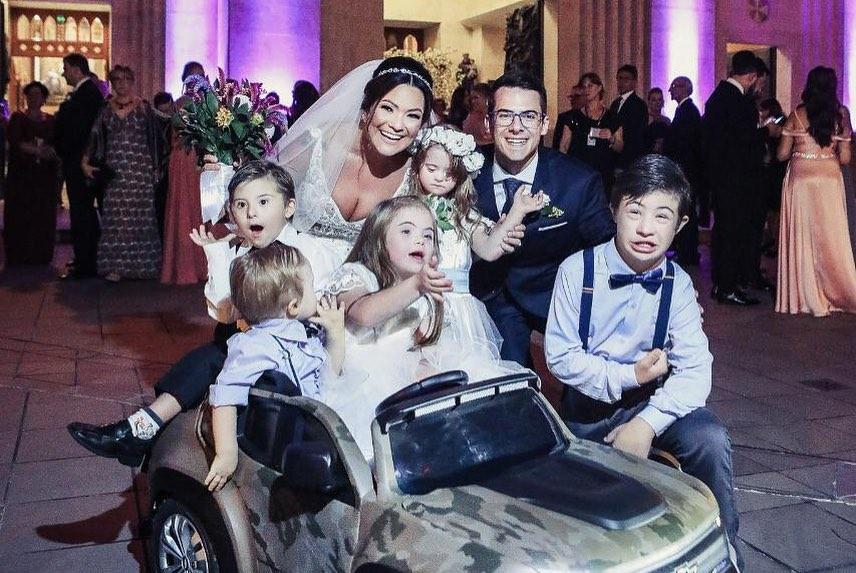 casamento fonoaudióloga surpresa crianças com sindrome de down