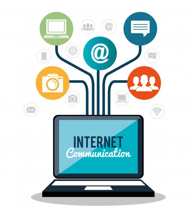 ilustração da conexão da internet