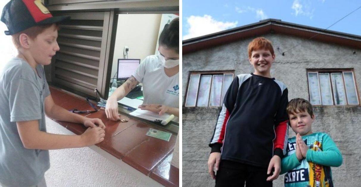 família menino doou dinheiro hospital ganha casa novo