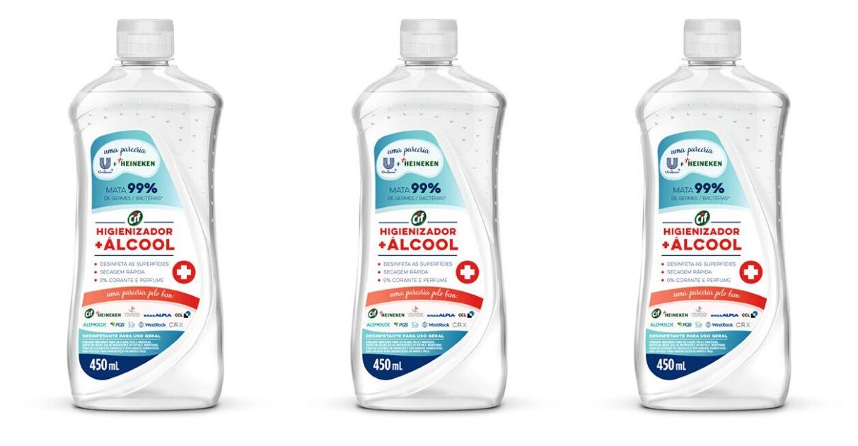 heineken unilever doação higienizador álcool favelas covid-19