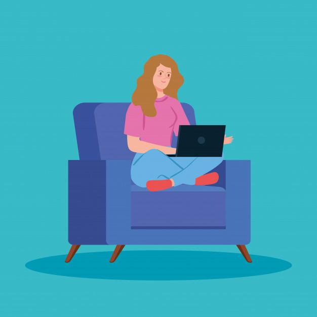 ilustração trabalho home office
