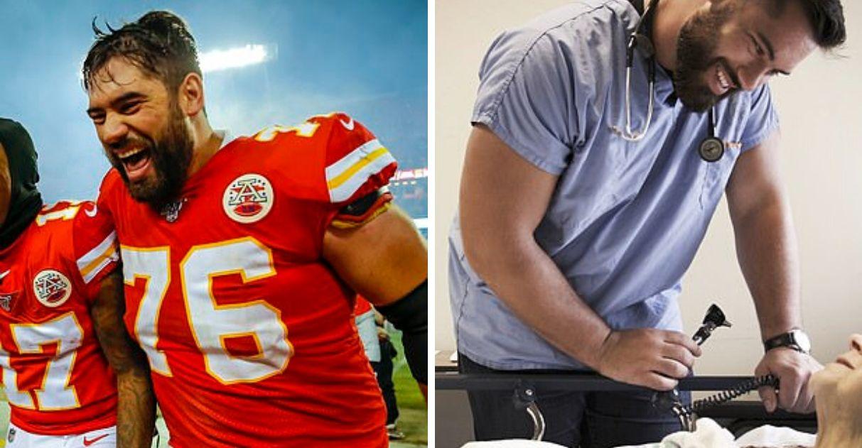 jogador futebol americano retorna medicina ajudar hospitais canadá