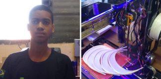 jovem cria impressora 3d com recicláveis produz face shields