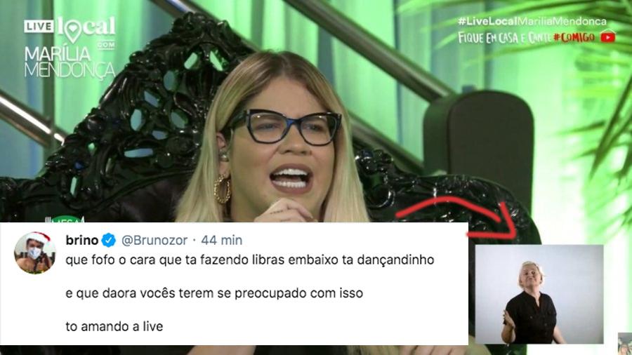 Com intérprete de libras, Marília Mendonça faz live para milhões de pessoas no Youtube 1
