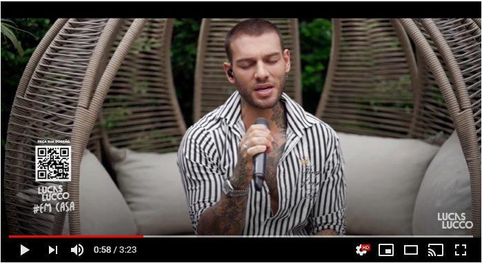 cantor Lucas Lucco em vídeo inédito