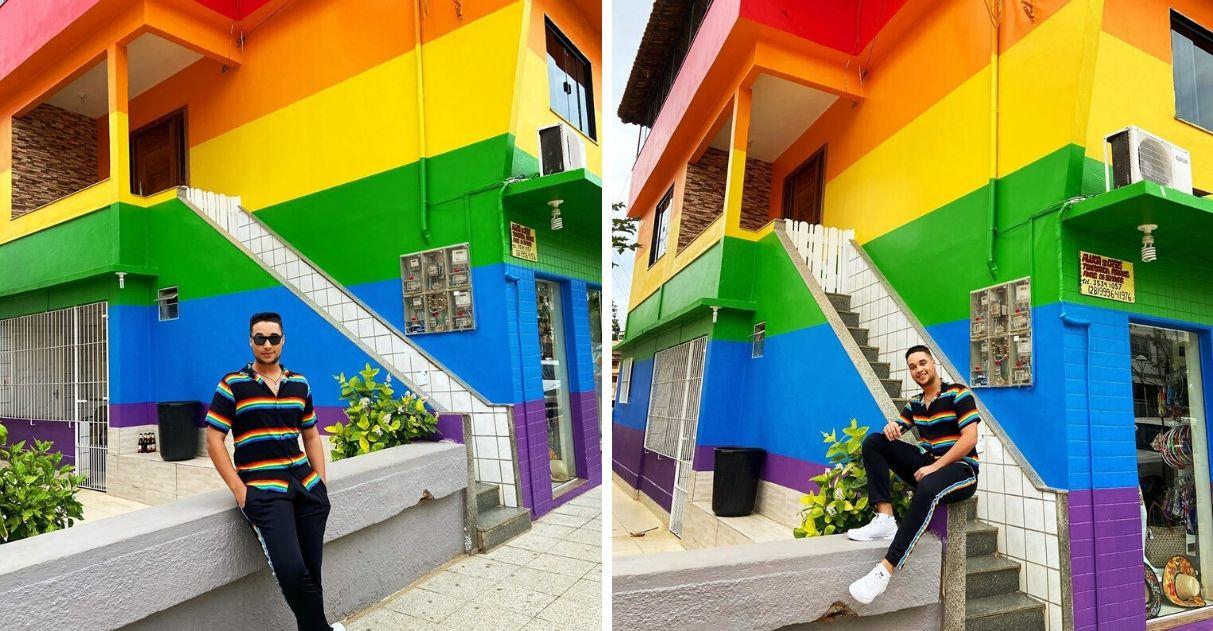 Mãe pinta casa cores arco-íris acolher filho LGBT