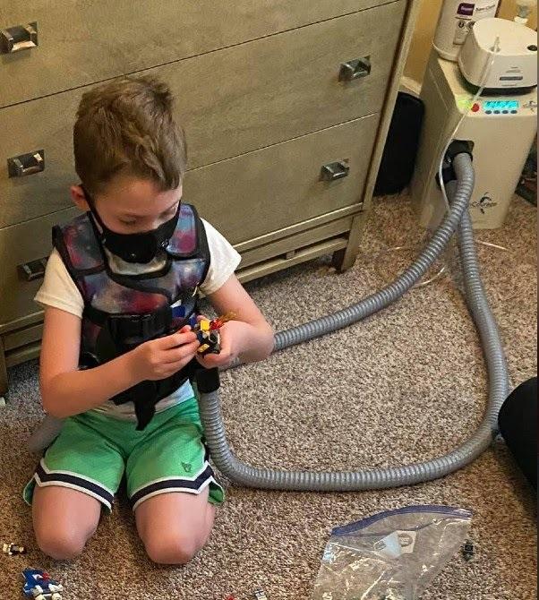 menino grave doença pulmão vence covid-19
