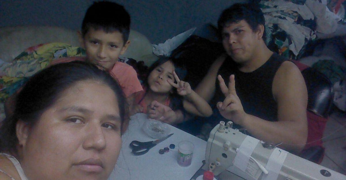 família boliviana trabalho informal costuras