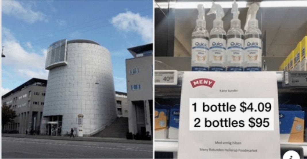 Supermercado desestimula compra álcool em gel anti-promoção