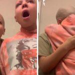 Jovem raspa cabelo e sobrancelha para apoiar irmã com câncer; vídeo