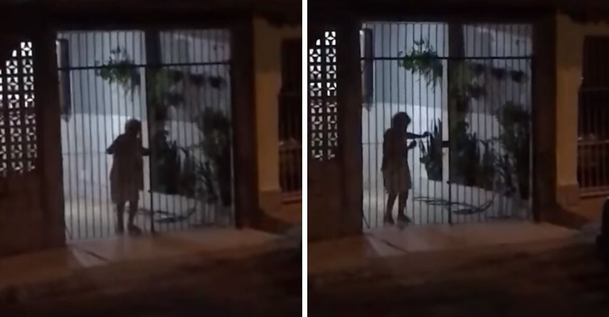 Idosa em quarentena se diverte dançando samba na varanda de casa
