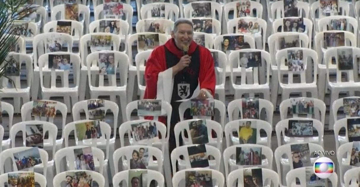 Padre Marcelo Rossi homenageia profissionais de saúde durante missa