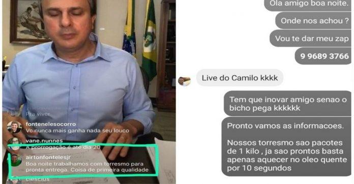 Vendedor torresmo anuncia produto live governador aumenta vendas