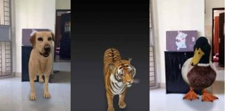 Google animais 3D motor de busca realidade aumentada