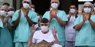 militar idoso veterano segunda guerra vence coronavírus
