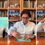 Pediatra ensina como fazer máscara de proteção com materiais simples; veja o vídeo