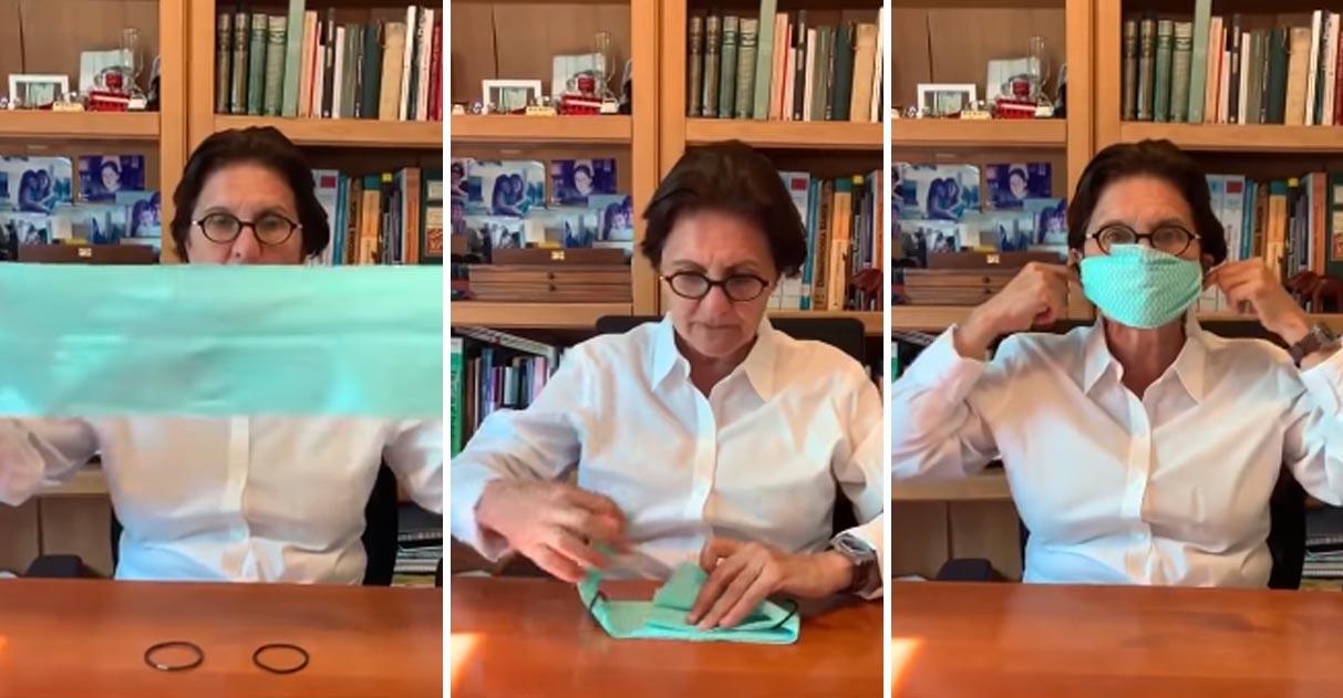 Pediatra ensina como fazer máscara de proteção com materiais simples; veja o vídeo 5