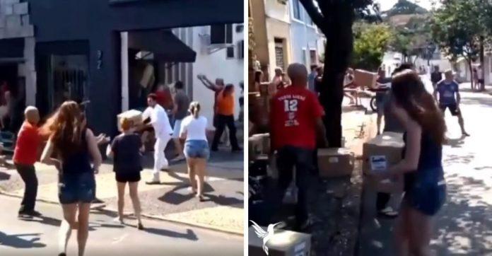 Após incêndio, população se une e ajuda esvaziar Mercado Municipal de Limeira (SP); veja o vídeo 1