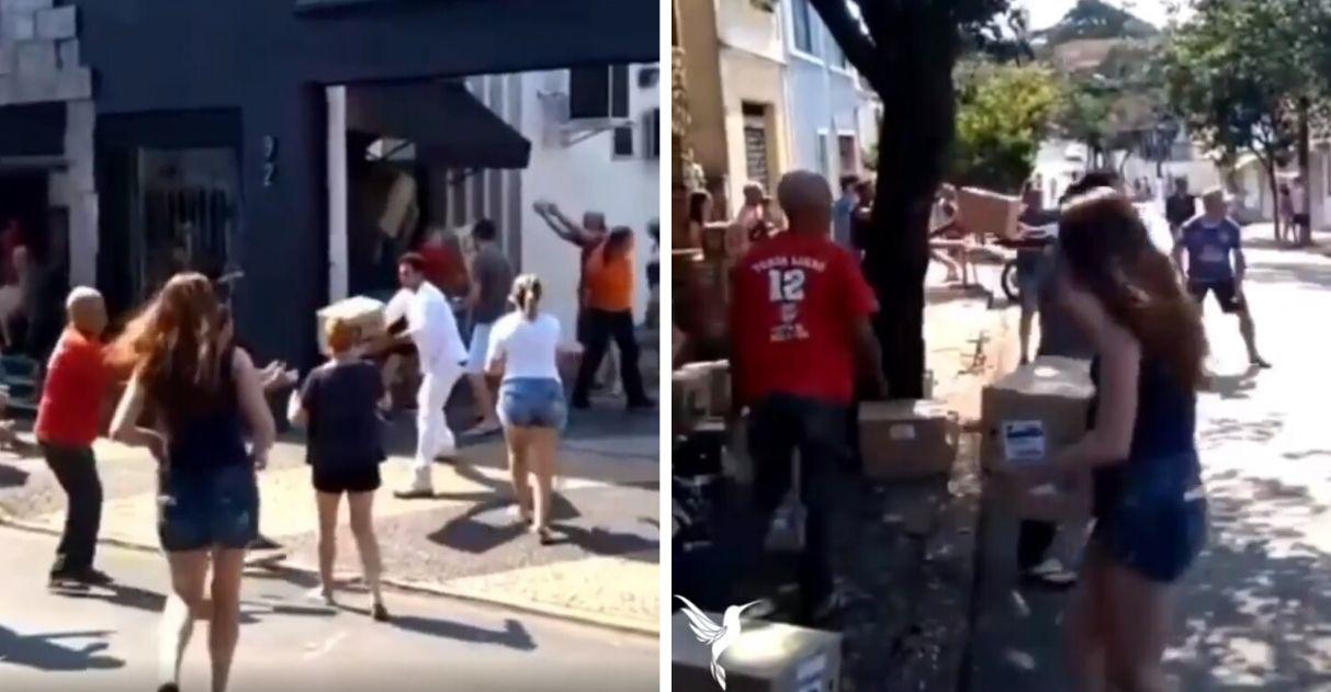 Após incêndio, população se une e ajuda esvaziar Mercado Municipal de Limeira (SP); veja o vídeo 8