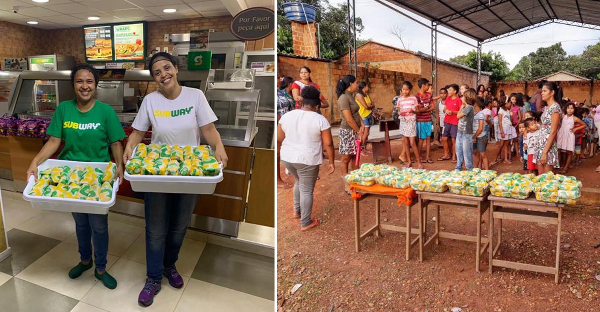 Subway doa 25 mil sanduíches para comunidades e profissionais da saúde 1