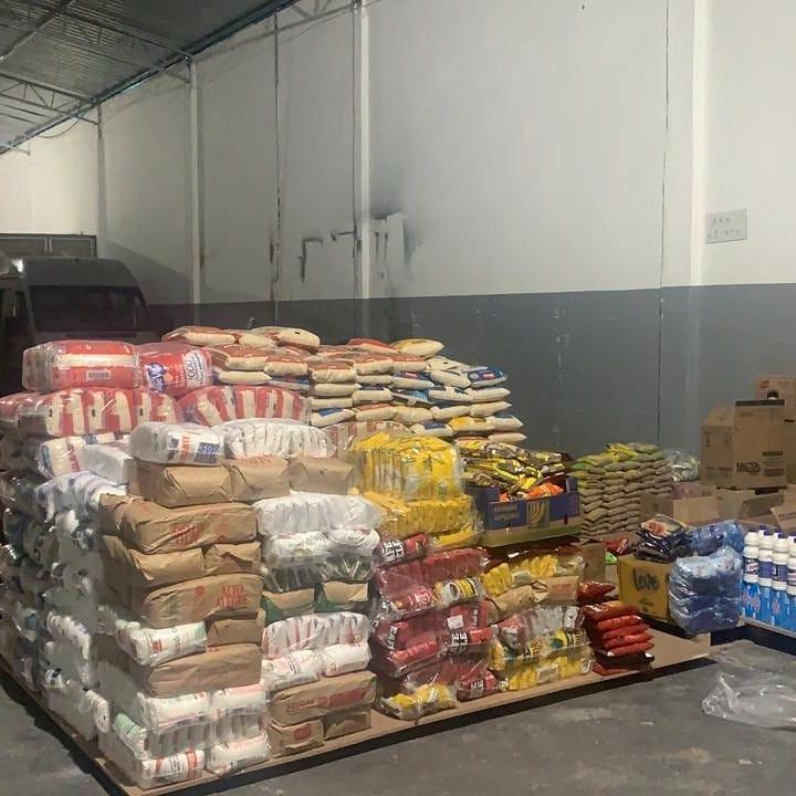 alimentos montagem cestas básicas
