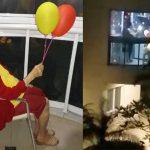 Vizinhos se unem para comemorar 102 anos de vovó festeira