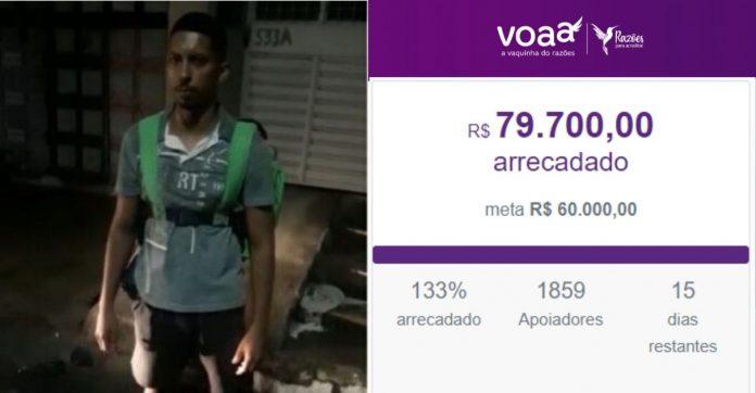 Vaquinha para motoboy que faz entregas a pé arrecada mais de R$70 mil em 24h 1