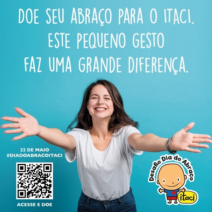 pôster campanha dia do abraço hospital itaci