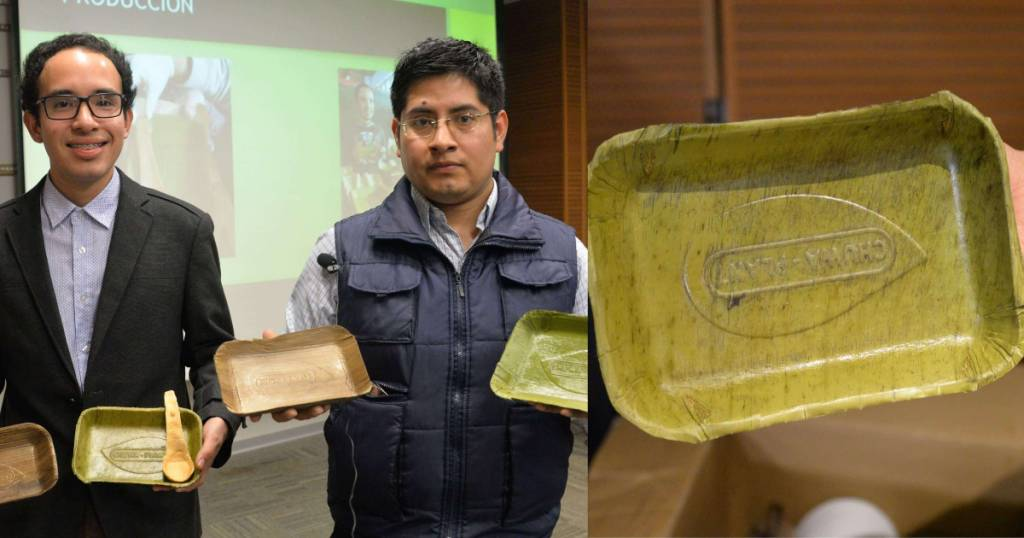 Jovens peruanos criam pratos que se degradam em 60 dias 4