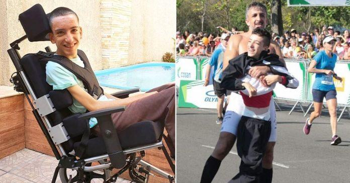 Parceiro no esporte e na vida, pai mostra que amor por filho é maior que suas limitações 1