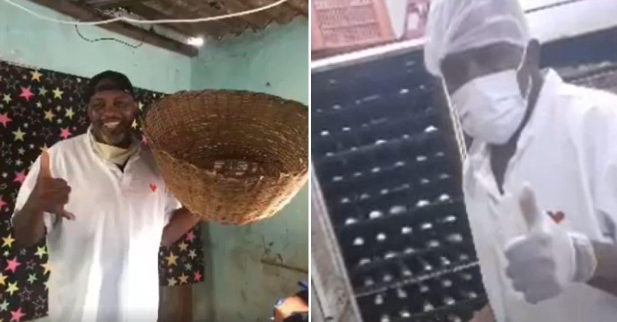 Mesmo desempregado, padeiro assa e distribui centenas de pães para moradores da Rocinha (RJ) 1
