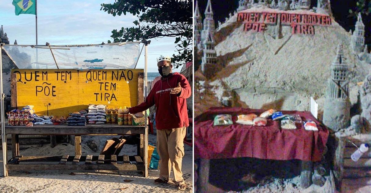 Prefeitura do RJ pede para morador de rua desfazer banca solidária e sua atitude surpreende 1