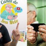 Sem netos para ajudar, canal no YouTube ensina idosos a usar celular e internet