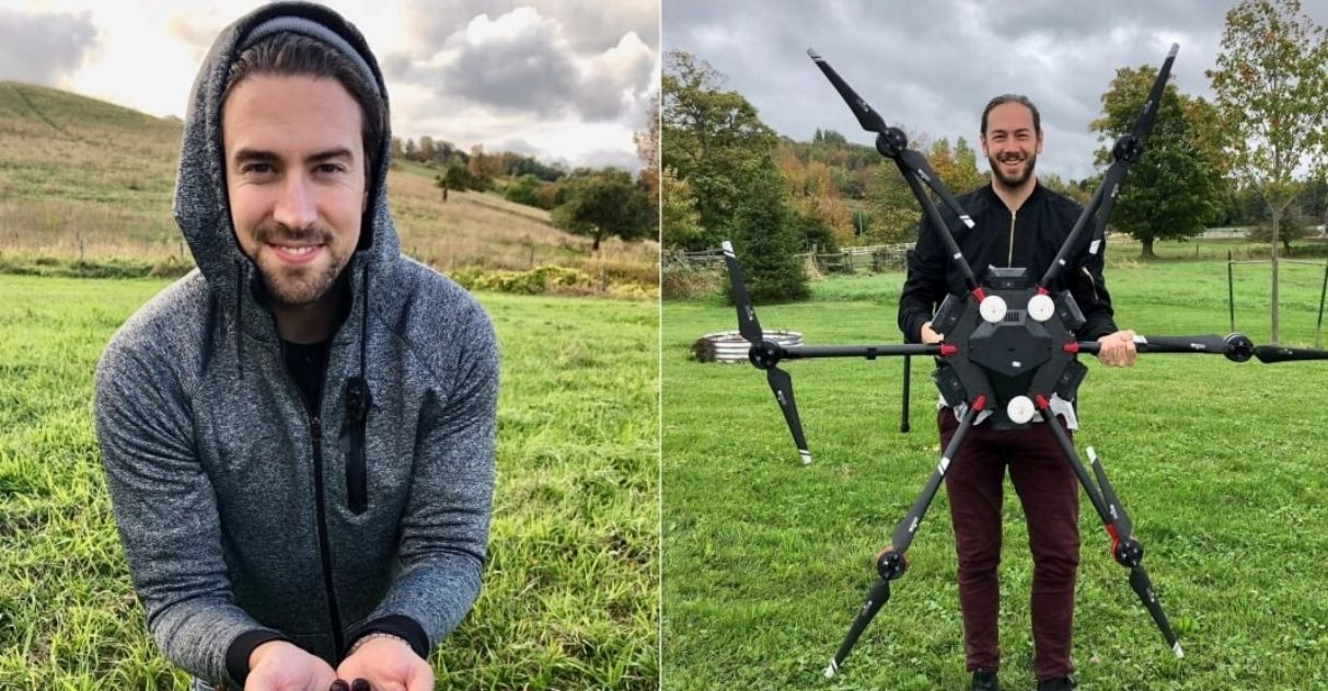 drones vão plantar 40 mil árvores canadá área destruída incêndio