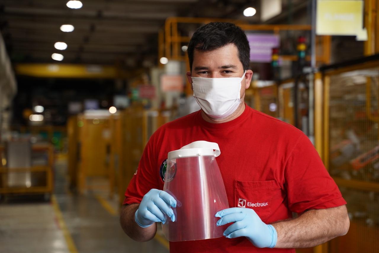 electrolux doação máscaras eletrodomésticos hospitais combate coronavírus