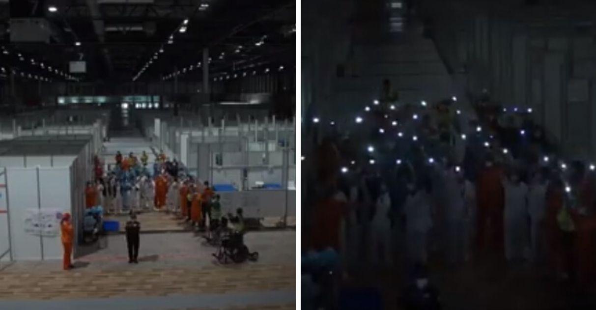 luzes hospital de campanha espanha se apagam sem pacientes