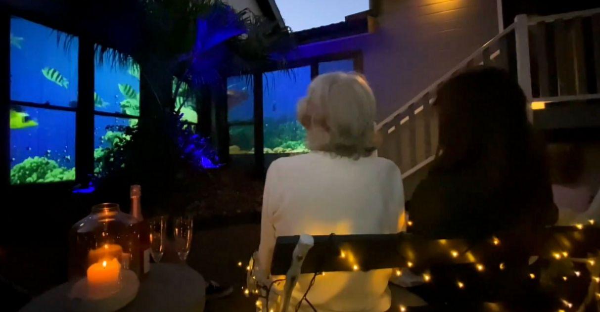 Filho transforma janelas de casa em aquário vivo e realiza desejo da mãe com Alzheimer 2