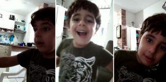 menino autista reagindo vídeo