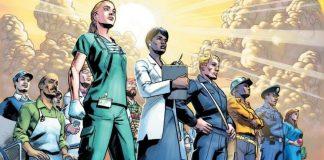 marvel cria arte transformando trabalhadores essenciais em super-heróis