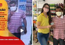 funcionária supermercado encontra e devolve dinheiro cliente