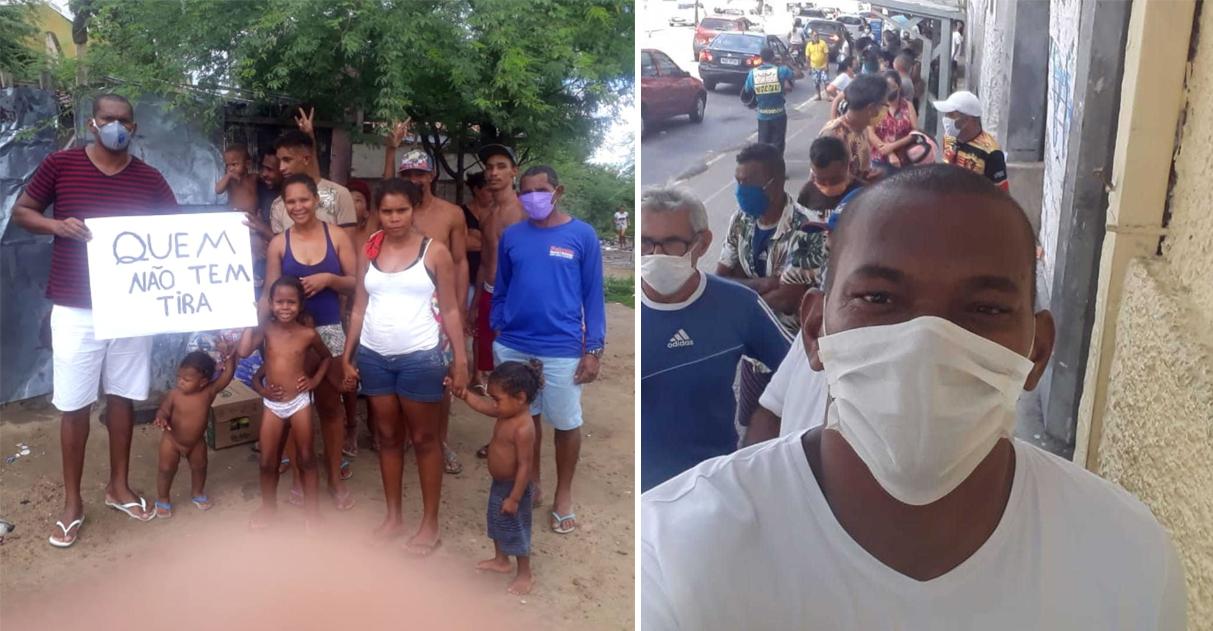 Após ser ajudado, enfermeiro que dormia em terraço doa comida a famílias e leva moradores de rua para almoçar 3