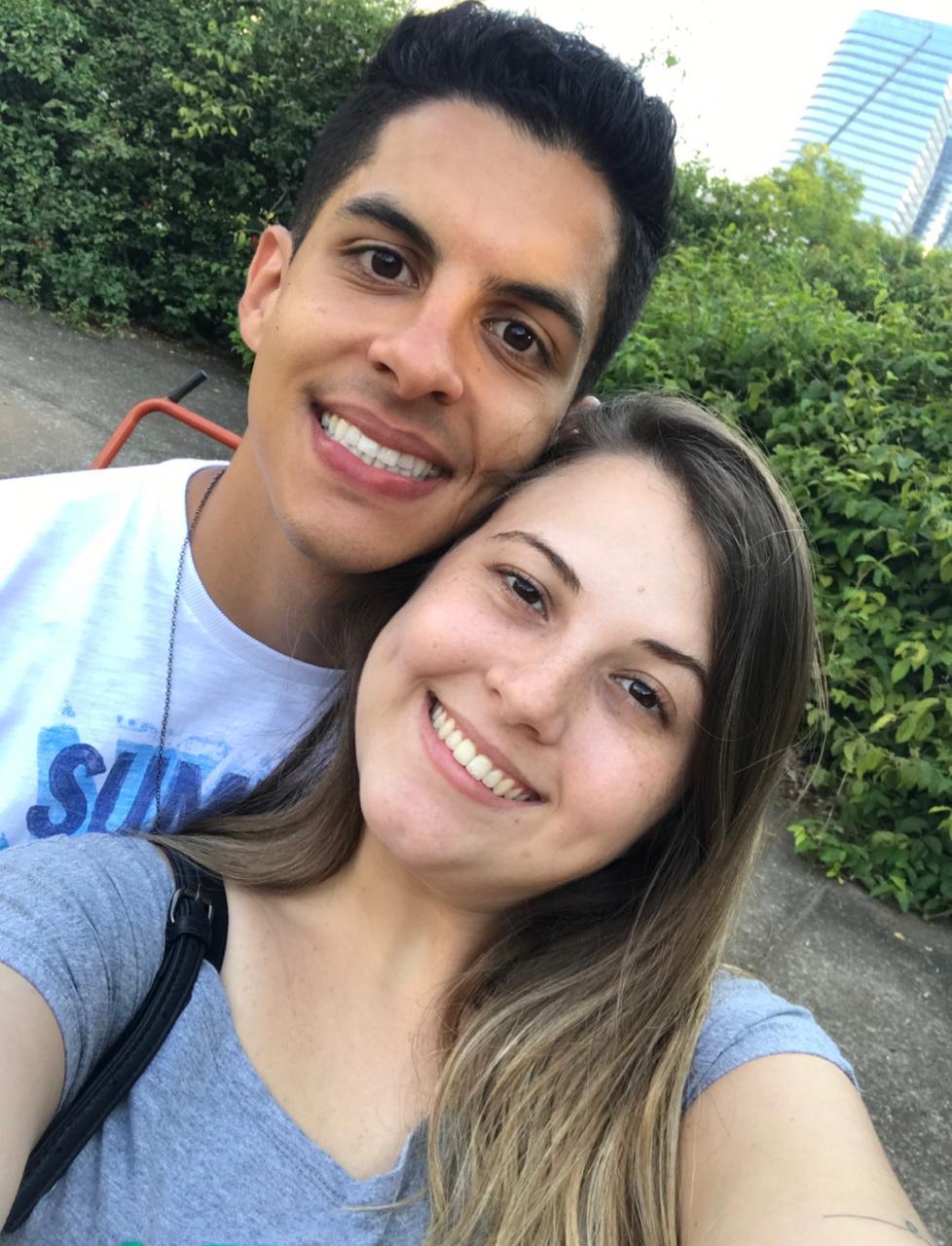 selfie namorados sorrindo