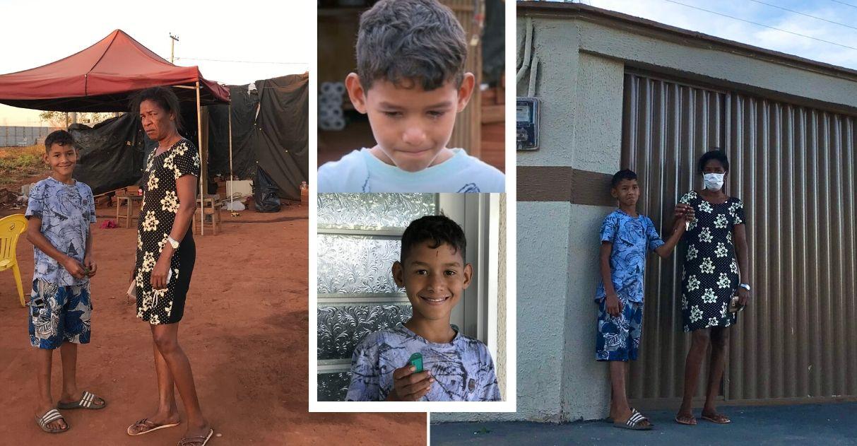 Kauã, menino que trabalhava para sustentar a família, pega as chaves da sua casa nova após vaquinha 4