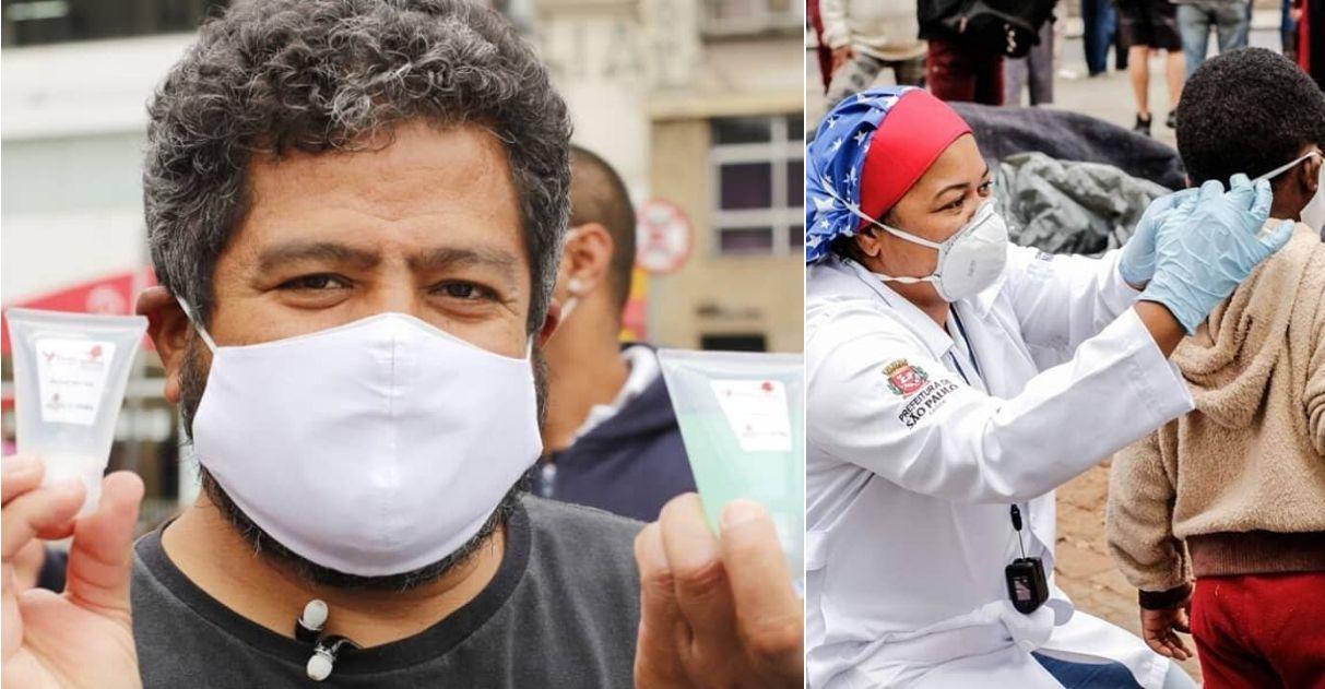 Com vaquinha, voluntários distribuem milhares de kits de higiene para população de rua de SP 1