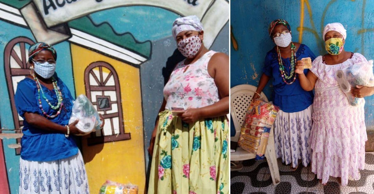 Baianas de acarajé que perderam renda começam a receber cestas básicas graças à vaquinha 1