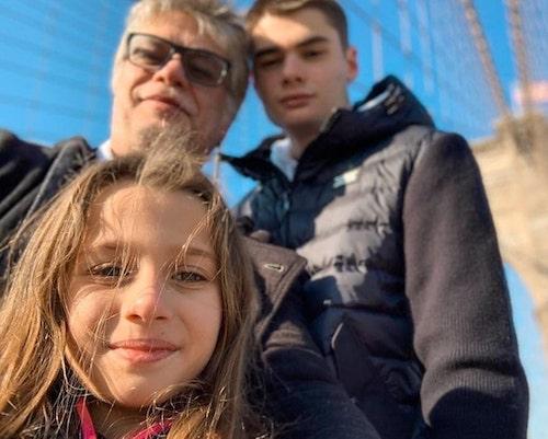 Fábio Assunção e filhos em NY