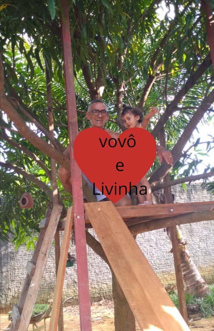 avo e neta casinha árvore sorrindo