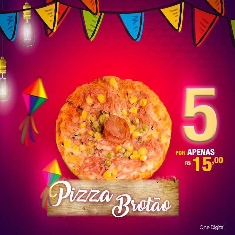 flyer pizza brotão