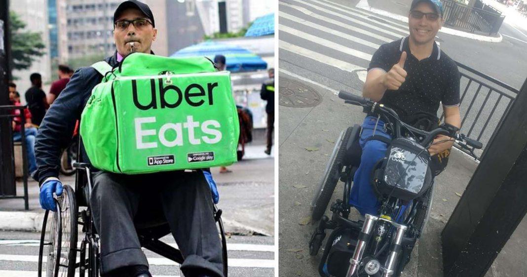 Após vaquinha, cadeirante que faz entregas em SP compra seu triciclo motorizado 2