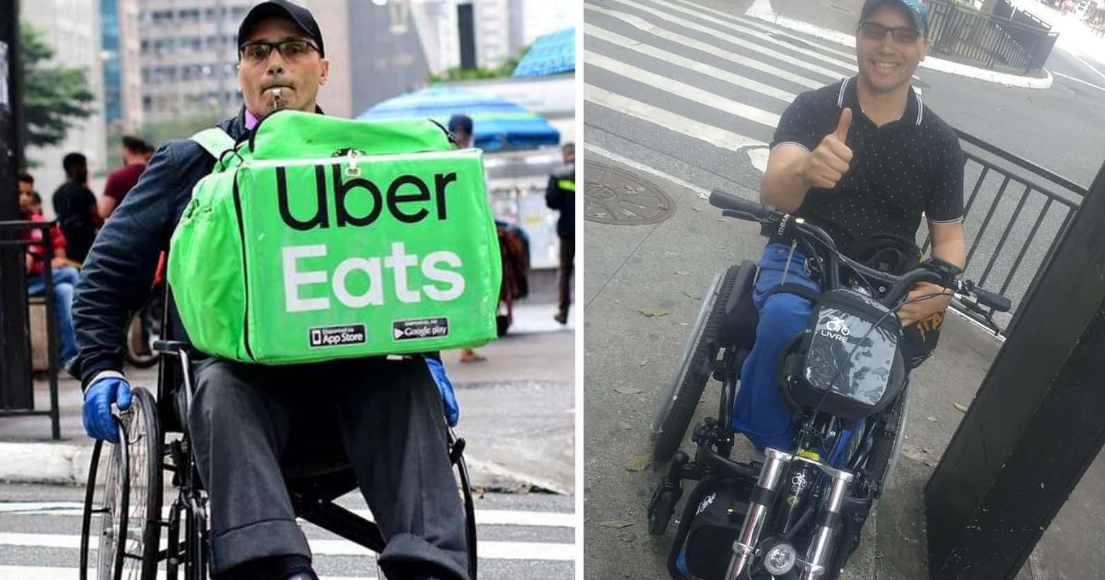Após vaquinha, cadeirante que faz entregas em SP compra seu triciclo motorizado 1